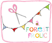 A forest frolic button with border